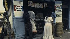 Kenya 1981: bar in the street Stock Footage