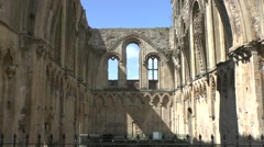 Ruins Abbey Glastonbury Stock Footage