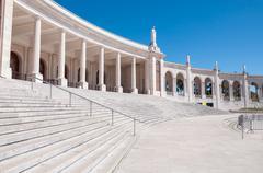Colonnade of Fatima Sanctuary - stock photo