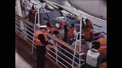 Captain and Crew in Life Vests Stock Footage