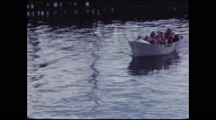 Life Boat with Motor on Water Stock Footage