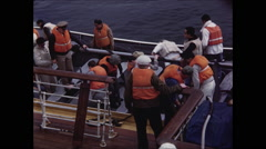 Boarding Life Boats Stock Footage