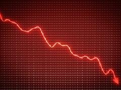 Red trend as symbol of business recession and financial crisis Stock Illustration