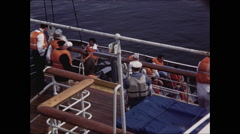 Stock Video Footage of Life Boat Lowered