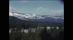 Snowy Mountain Vistas Stock Footage
