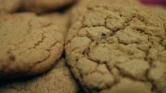 Brown Sugar Bourbon Cookies CU Stock Footage