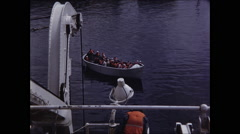 View of Life Boat From Ship Stock Footage