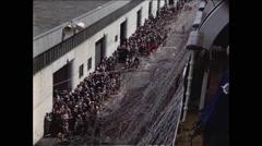 Big Ship Farewell - stock footage