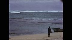 Woman on Hawaiian Beach Alone Stock Footage
