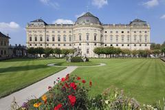 Residenz, Baroque Palace, built by Balthasar Neumann, Hofgarten Park, UNESCO - stock photo
