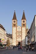 Cathedral of St. Kilian, Wurzburg, Franconia, Bavaria, Germany, Europe Stock Photos