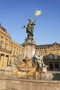 Residenz, Baroque Palace, built by Balthasar Neumann, Franconia Fountain, UNESCO - stock photo