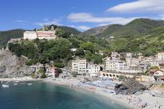 Monterosso al Mare, Cinque Terre, Rivera di Levante, UNESCO World Heritage Site, - stock photo