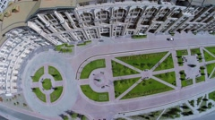 Gorky Gorod Apartments at summer sunny day. Aerial view. Stock Footage