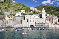 Vernazza, Cinque Terre, UNESCO World Heritage Site, Rivera di Levante, Provinz - stock photo