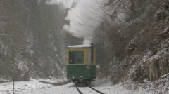 VISEU, ROMANIA - JAN 2: View of an old traditional steam engine called MOCANITA - stock footage