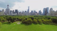 Central park with Sheep Meadow and Heckscher Ballfields at summer Stock Footage