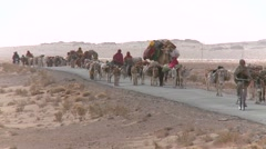 Afghan nomads Stock Footage