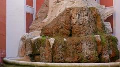 Fountain at Palazzo Barberini. Rome. Italy, Rome, Italy Stock Footage