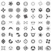 Unusual Icons Set - Isolated On white Background Stock Illustration