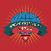 Christmas sale design template. Stock Illustration
