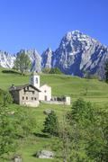 The fairy tale landscape of Daloo, a tiny mountain village in Valchiavenna, Stock Photos