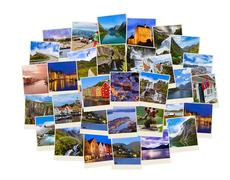 Stack of Norway travel shots Stock Photos