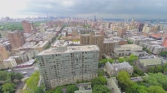 Cityscape with Upper West Side at summer cloudy day. Stock Footage