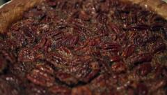 Fresh Pecan Pie CU Stock Footage
