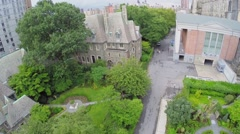 Cathedral house and Deans Residence near Cathedral Stock Footage