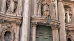 La Chiesa di San Carlino alle Quattro Fontane. Roma, Italy. 1280x720 Stock Footage