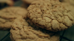 Brown Sugar Bourbon Cookies CU - stock footage