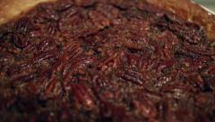 Fresh Pecan Pie CU Stock Footage