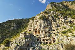 Stock Photo of Myra rock tombs, Demre, Antalya Province, Anatolia, Turkey, Asia Minor, Eurasia