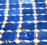 abstract morocco in africa  tile the colorated pavement   background texture - stock photo