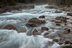 Cascades on the Mistaya River, Banff National Park, UNESCO World Heritage Site, Stock Photos