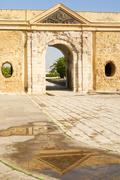 Ottoman monumental gate, La Goulette, Tunisia, North Africa, Africa - stock photo