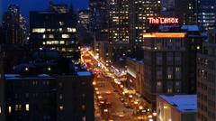 Boston at Night Stock Footage
