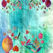 autumn background - stock illustration