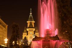 Metropolitan Church and Fountain - stock photo