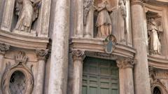 La Chiesa di San Carlino alle Quattro Fontane. Roma, Italy. 4K Stock Footage