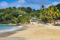 Beach of Castara,Tobago, Trinidad and Tobago, West Indies, Caribbean, Central Stock Photos