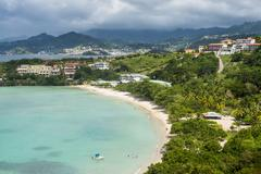 View over Mourne Rouge beach, Grenada, Windward Islands, West Indies, Caribbean, Stock Photos
