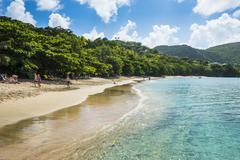 Princess Margaret beach, Admiralty Bay, Bequia, The Grenadines, St. Vincent and - stock photo
