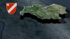 Molise is a region of Southern Italy whit Coat of arms Stock Footage