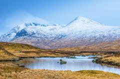 Black Mount from Rannoch Moor, Argyll and Bute, Highlands, Scotland, United - stock photo