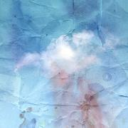 Old crumpled background with clouds Stock Illustration