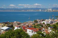 View of Downtown, Puerto Vallarta, Jalisco, Mexico, North America - stock photo