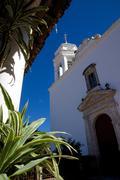 View of Church Belltower, San Sebastian del Oeste (San Sebastian) Jalisco, - stock photo