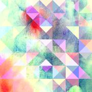 Interesting texture of colored triangles Stock Illustration